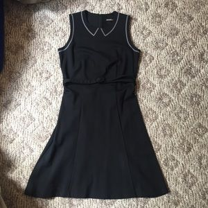 J. McLaughlin Black with Grey trim small dress